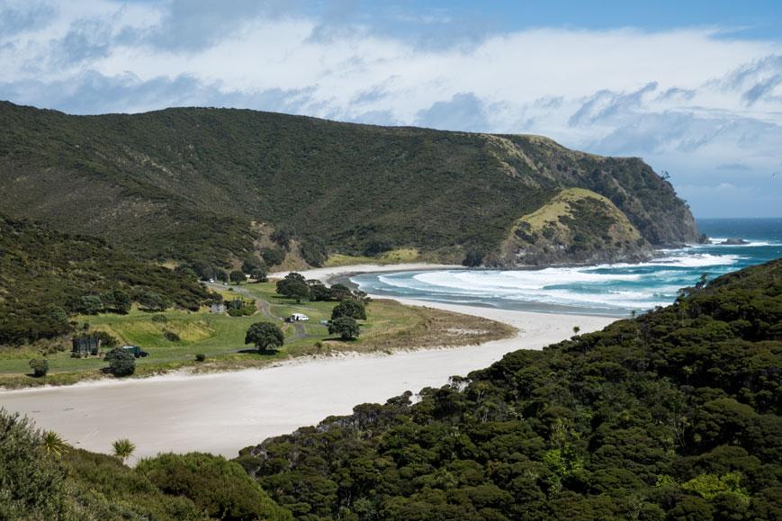 Tapotupotu Bay östlich der Nordspitze Neuseelands beim Cape Reinga, Nordinsel Neuseeland