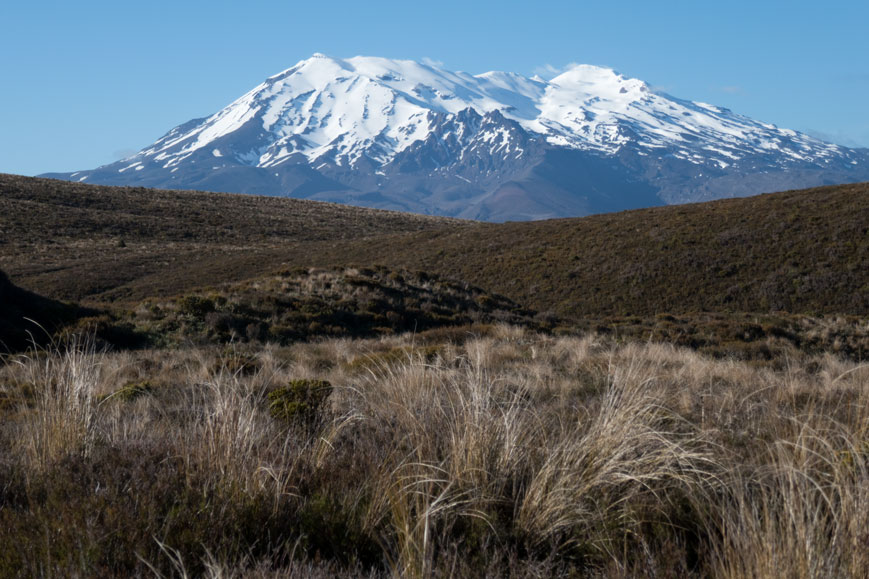 Mount Ruapehu im Tongariro Nationalpark, Neuseeland Nordinsel