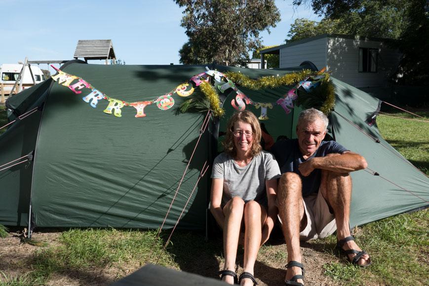 Festlich geschmücktes Zelt, Neuseeland Nordinsel