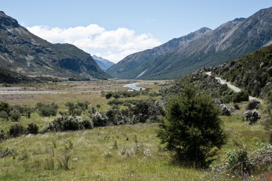 Wairau River auf dem Gelände der Rainbow Farm, Neuseeland Südinsel