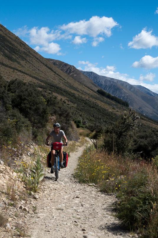 Auf dem Alps to Ocean Cycle Trail, Neuseeland Südinsel