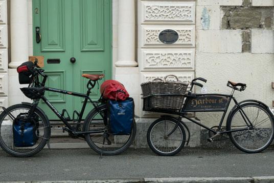 Gepäcktransporter in Oamaru, Neuseeland Südinsel