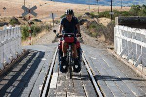 Olaf auf dem Ortago Central Rail Trail, Neuseeland Südinsel