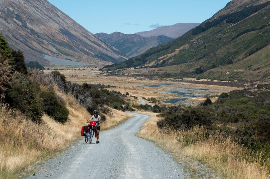 "Radweg ""Around the Mountains"", Neuseeland Südinsel"