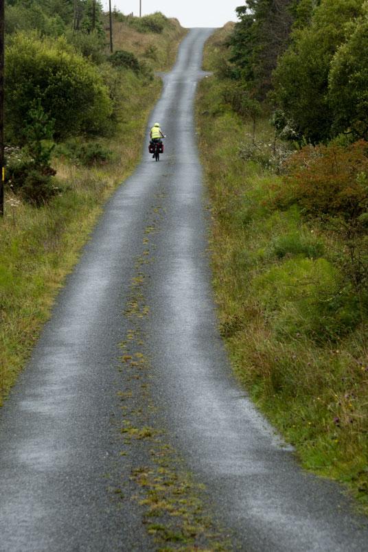 Steile Anstiege von 10% und mehr nördlich von Donegal