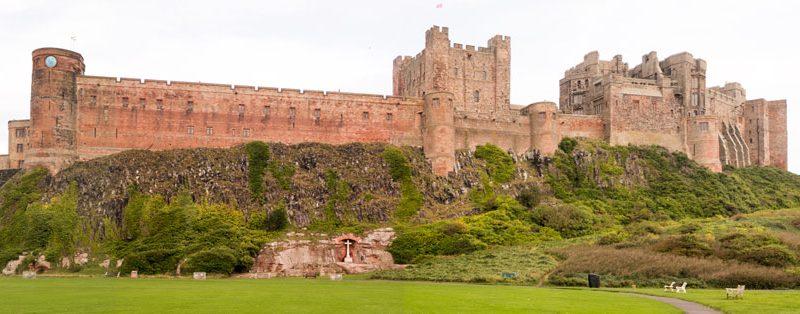 Bamburgh Castle südlich von Berwick