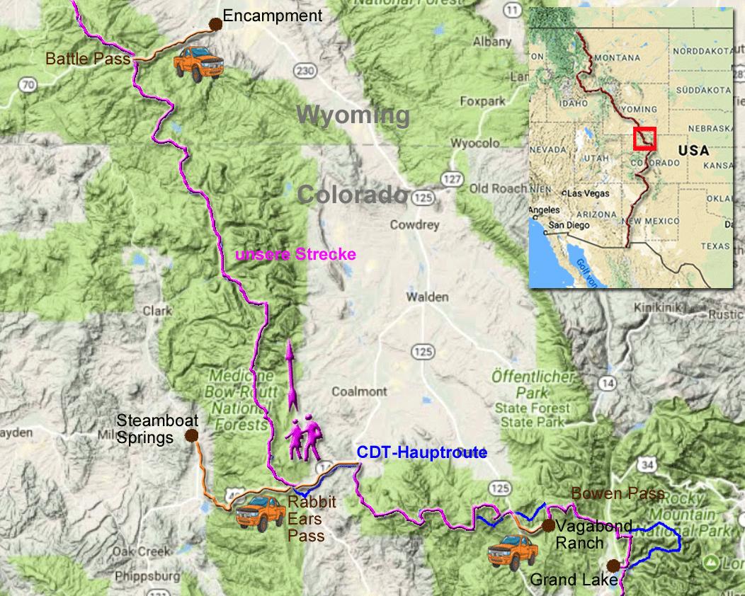 245 Kilometer auf dem CDT von Grand Lake nach Encampment